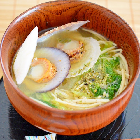 Miso Soup with Bay Scallops