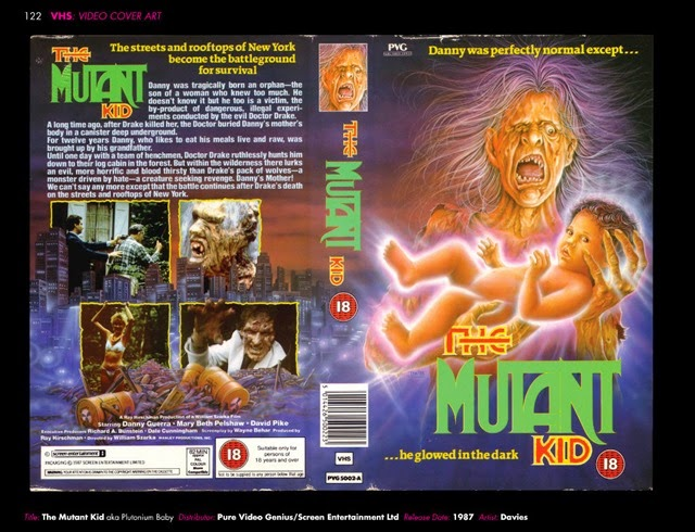 VHS Video Cover Art 1980s to Early 1990s The Mutant Kid