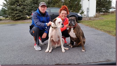 jenny and I and dogs global5k day run