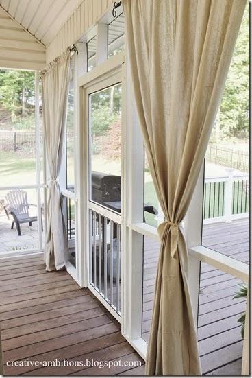 Creatiev Ambitions Outdoor Drop Cloth Curtains