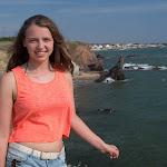 Viktoria in Betignolles-sur-Mer / Виктория на берегу в Бретиньоль-сюр-Мер