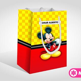 Caja Sorpresa para Fiesta de MICKEY MOUSE | Moldes Gratis para Imprimir