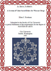 Cover of Ellen Friedman's Book As Above So Below A System of Value Based Ethics for Wiccan Clergy