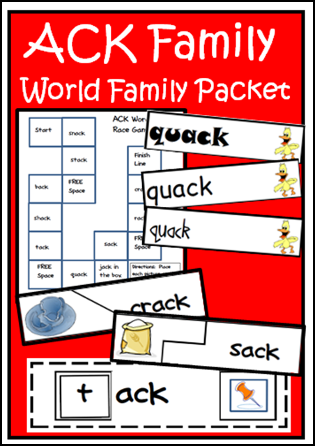 Free ack family packet with four different possible centers. Free download from Raki's Rad Resources