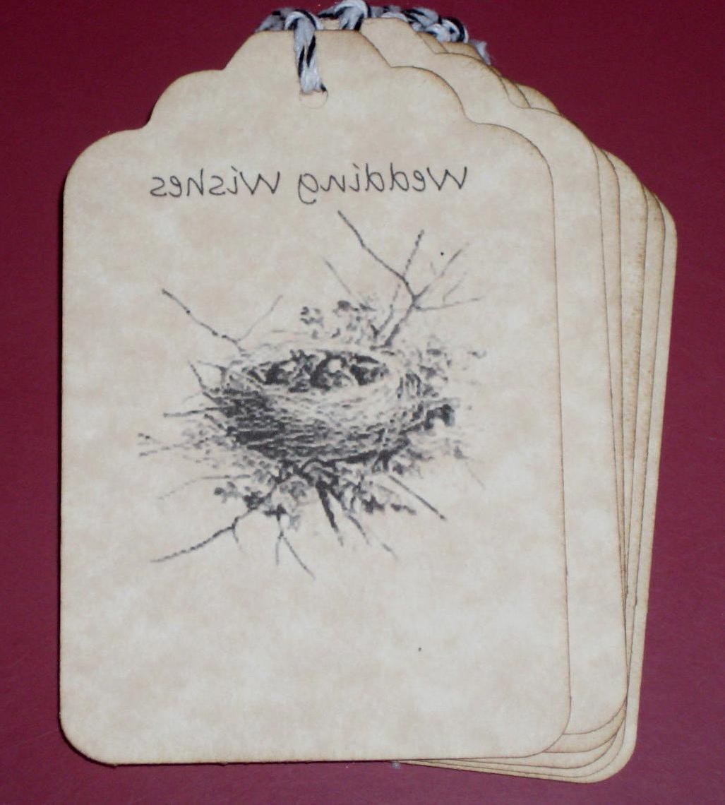 8 Wedding Wishes Birds Nest Gift Tags