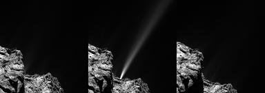 outburst de curta duração no cometa