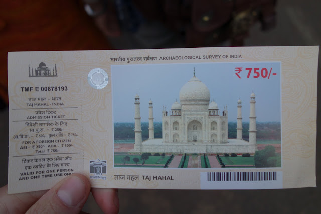 Dual pricing in effect for foreigners and locals at the Taj Mahal.