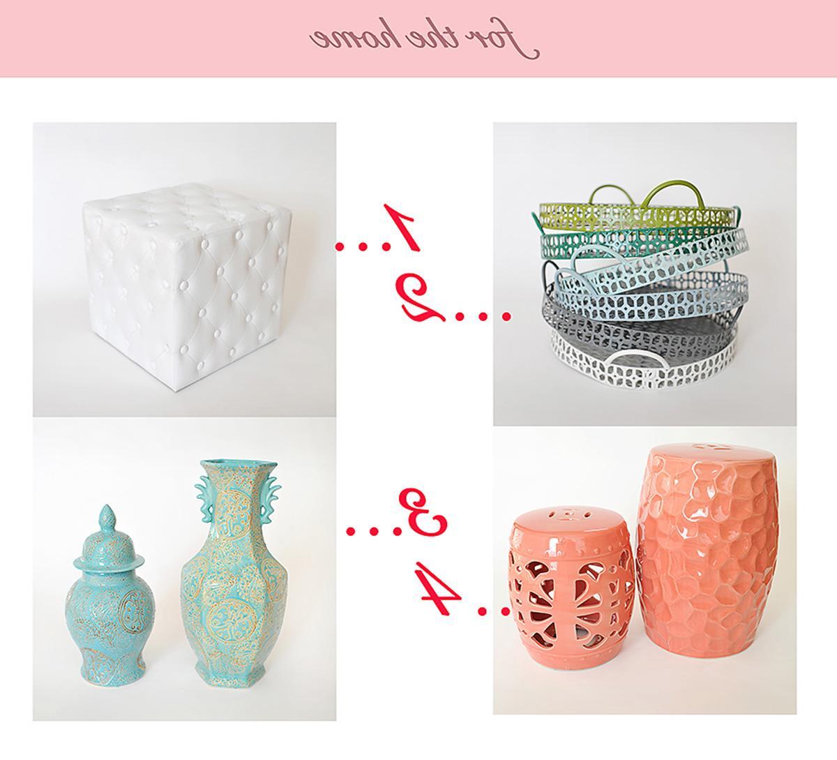 Oriental Aqua Vases 4. Orange