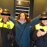 happy with the Amsterdam cops in Amsterdam, Noord Holland, Netherlands