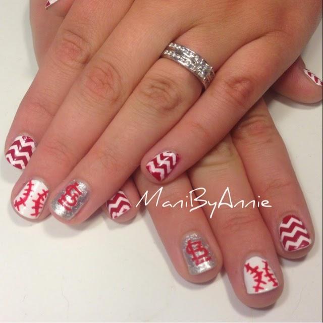 Mani By Annie Mani By Annie St Louis Cardinals Nails