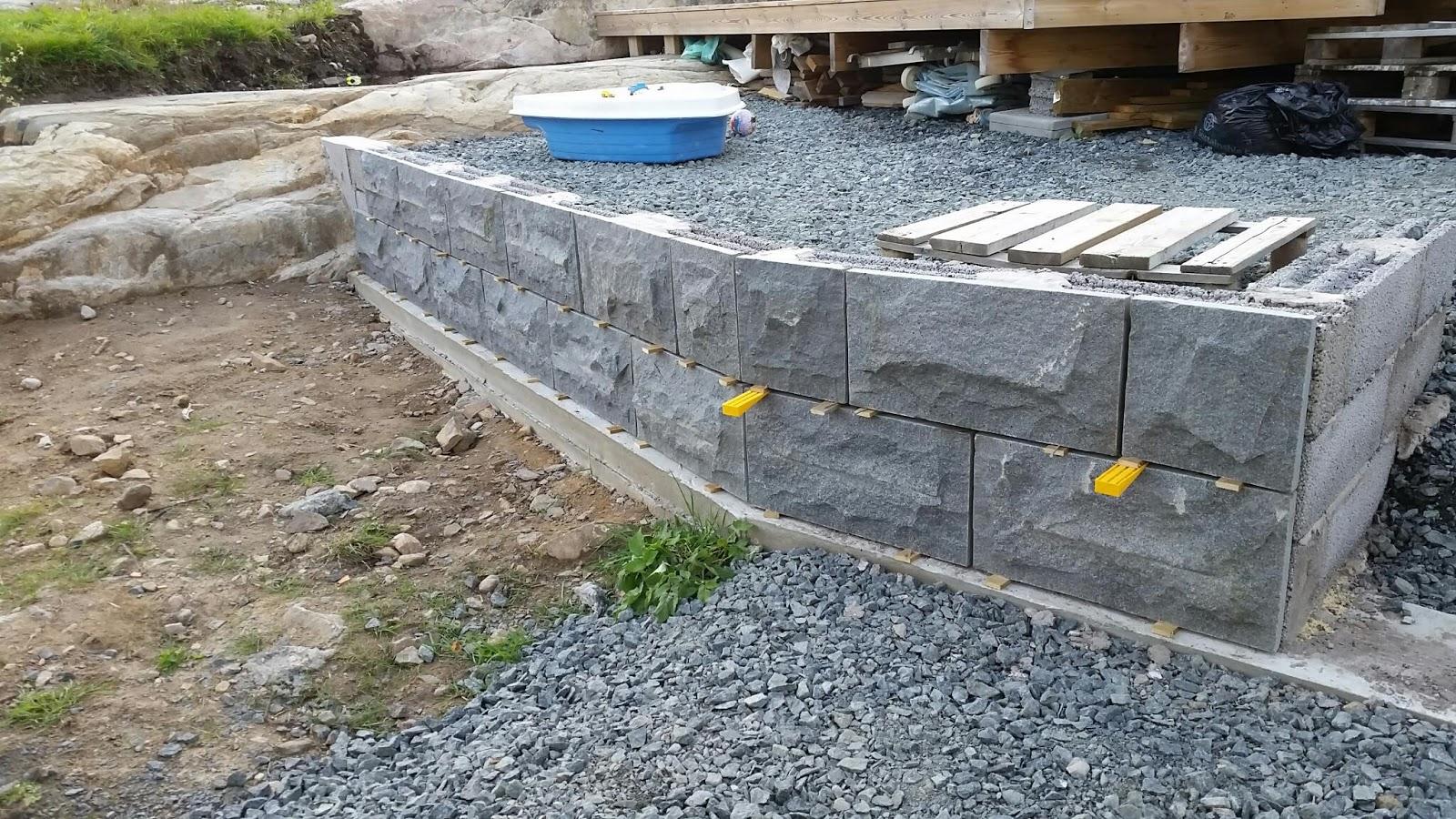 Murbeklädnad betong
