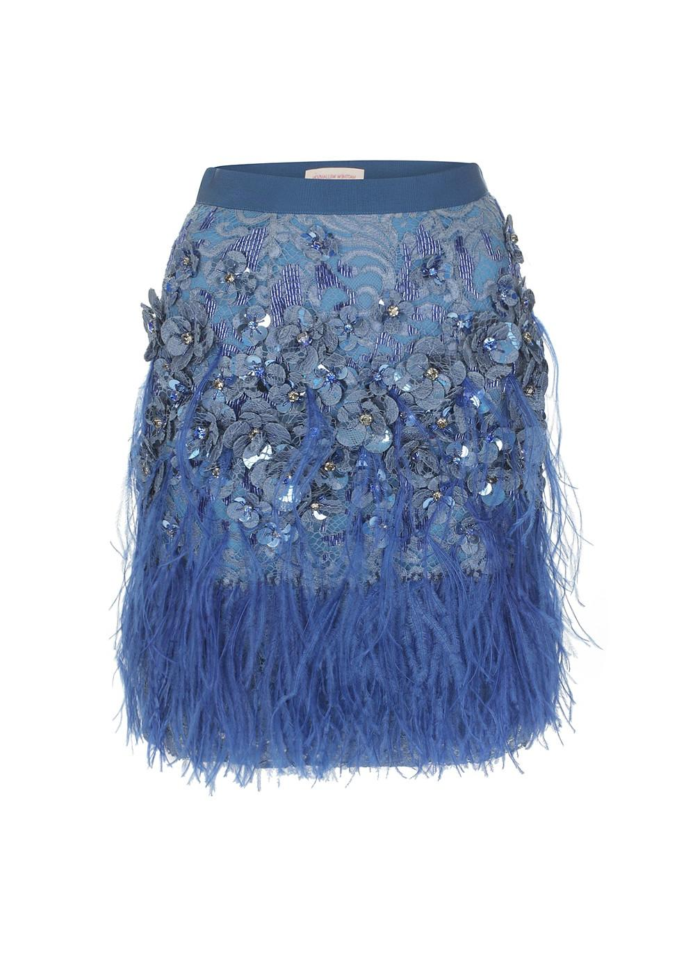 Lacquer Lace Feather Skirt