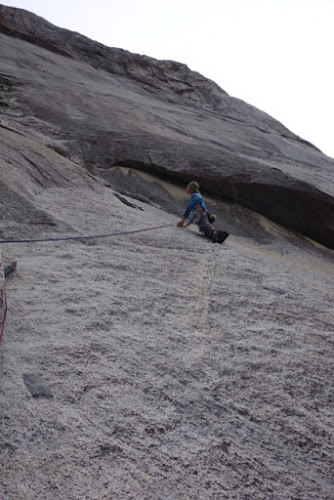Pitch one of the El Capitan West Face 5.11c