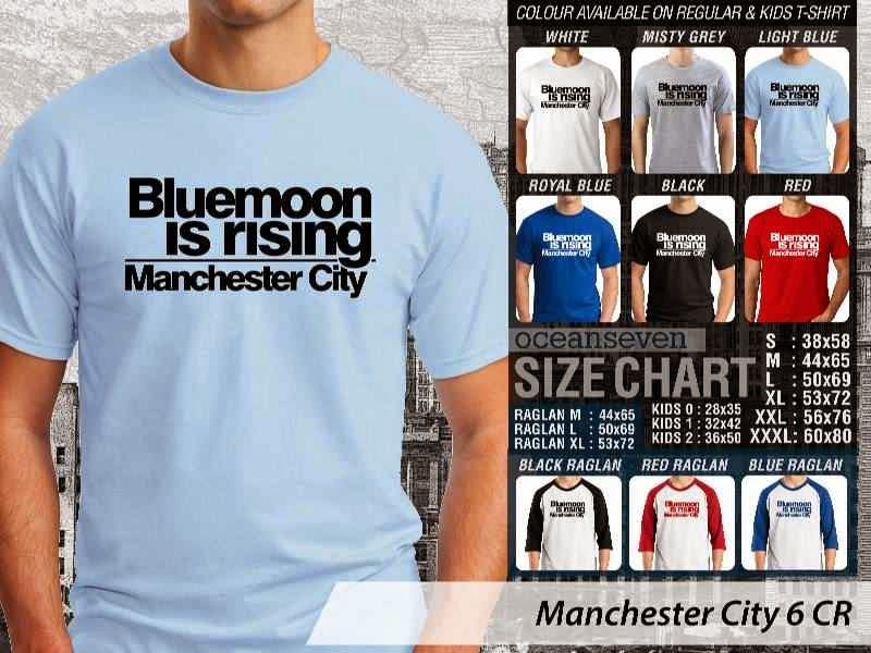 KAOS Man City Manchester City 6 Liga Premier Inggris distro ocean seven