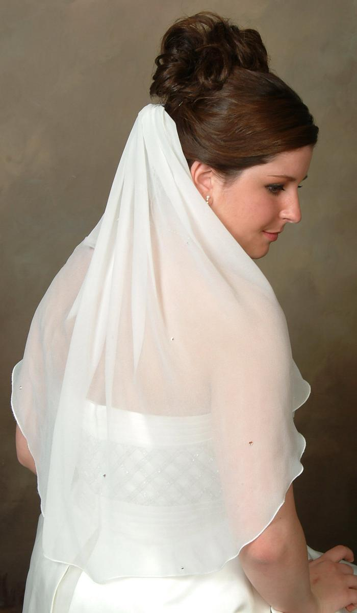 silk bridal veil