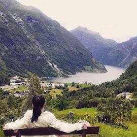 Geiranger Norway by Flongflong Egagamao - Landscapes Mountains & Hills