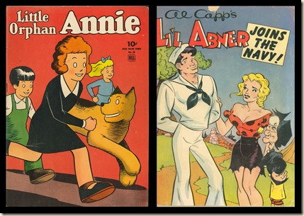 Little Orphan Annie Abner covers