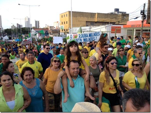 Rogério Marinho no Fora Dilma em Natal