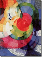 "František Kupka, Disks of Newton, Study for Fugue in Two Colors, 1911-12, o/c, 39-1/2 x 29"", 77.5 x 73.6 cm, Philadelphia Museum of Art. Source: Painting the Universe-Kupka-Pioneer in Abstraction."