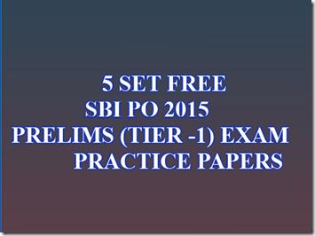SBI PO 2017 Preliminary Practice paper