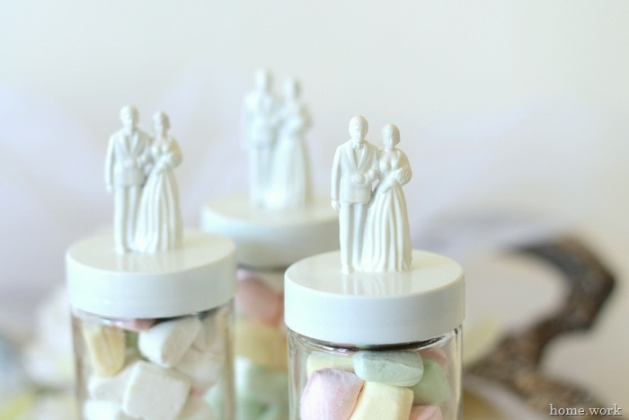 Painted Bride & Groom Wedding Favors - homework - carolynshomework (1)