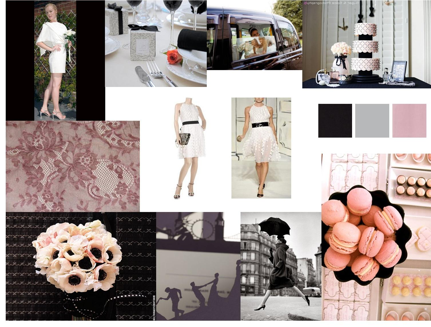 pale pink and black wedding