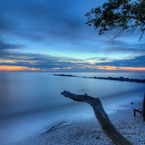 Blue Hour @ Sg Hj Dorani by Abu bakar Mohd tajudin - Landscapes Waterscapes ( nature, hdr, seascapes, waterscapes, landscape )