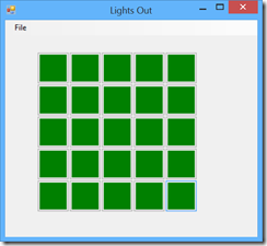 Image of Lights Out game board
