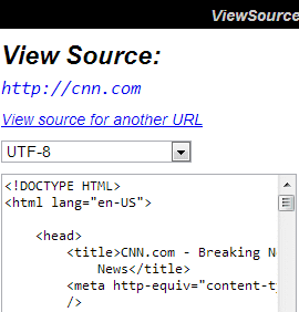 ViewSource Screenshot