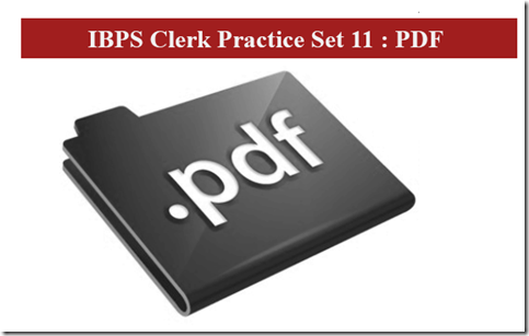 IBPS Clerk Preliminary Question paper PDF Set 11