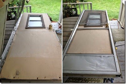 camper door with screen