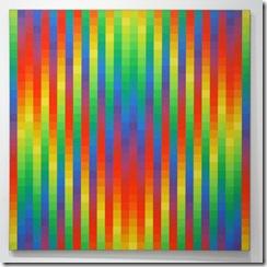 Richard-Paul-Lohse-30-vertikale-systematische-Farbreihen-in-gelder-Rautenform-Olieverf-op-doek
