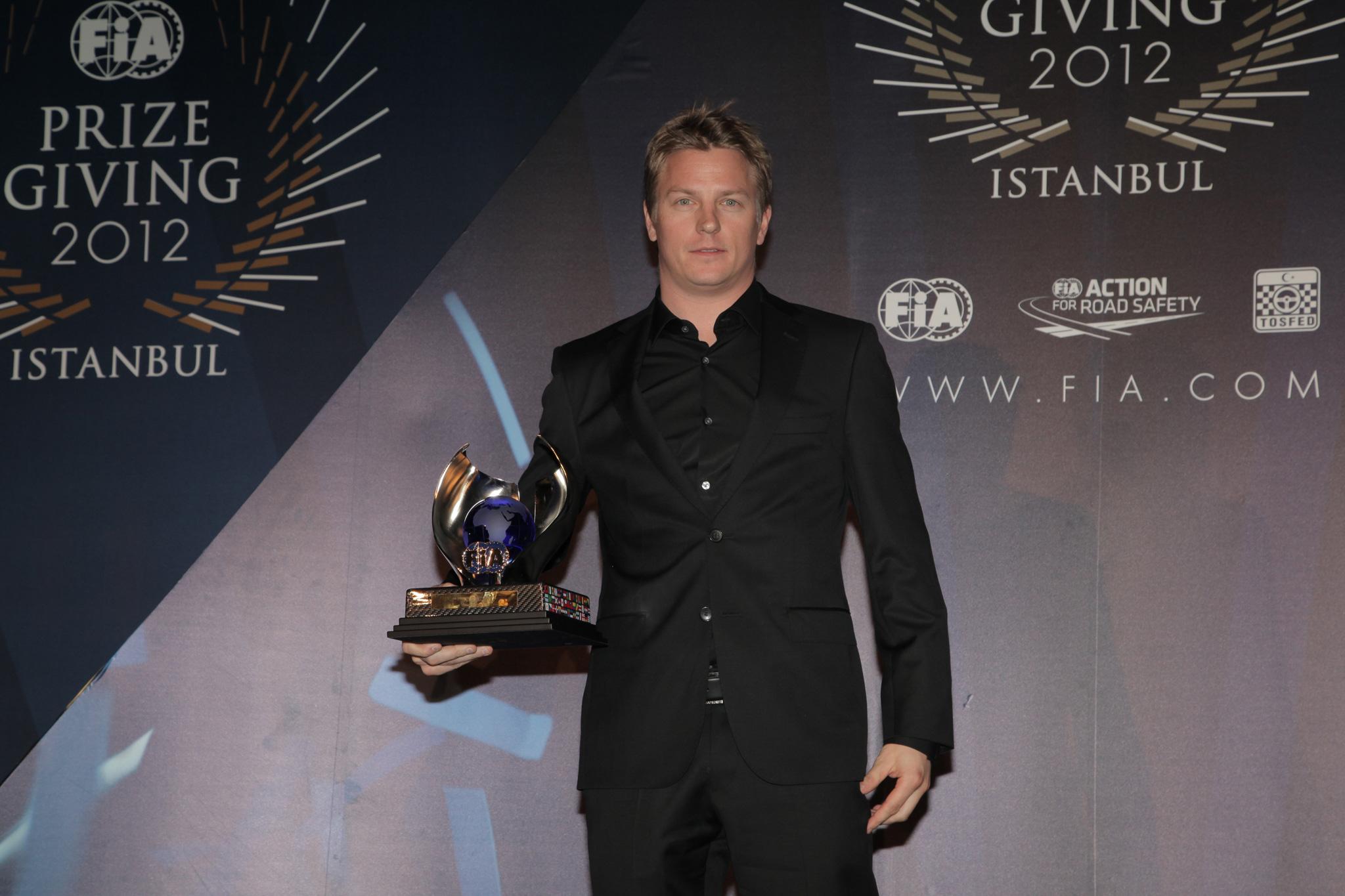 Кими Райкконен на FIA Gala Prize Giving 2012 в Истамбуле