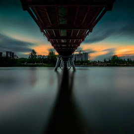 Gloomy by Gordon Koh - Buildings & Architecture Bridges & Suspended Structures ( water, long exposure, bridge, landscape,  )