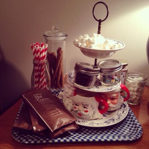 vintage Santa mugs, vintage Christmas