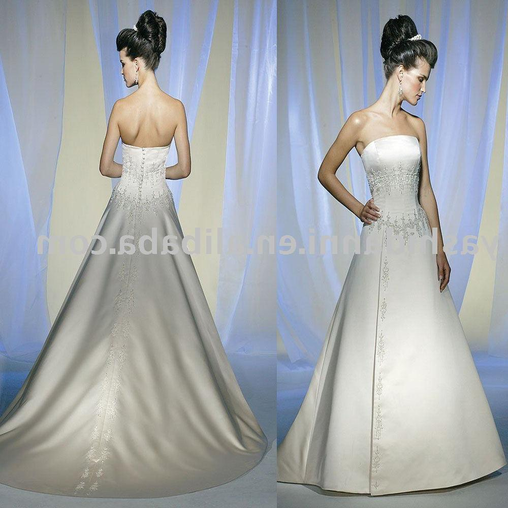 backless ball gown wedding