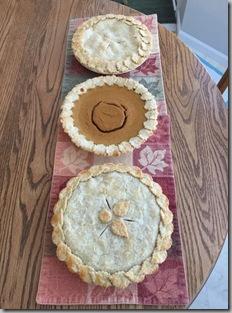 Thanksgiving 2015 pies