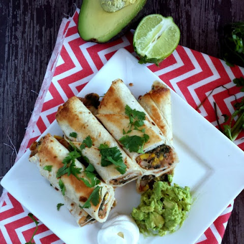 Sweet Corn & Spinach Baked Flautas