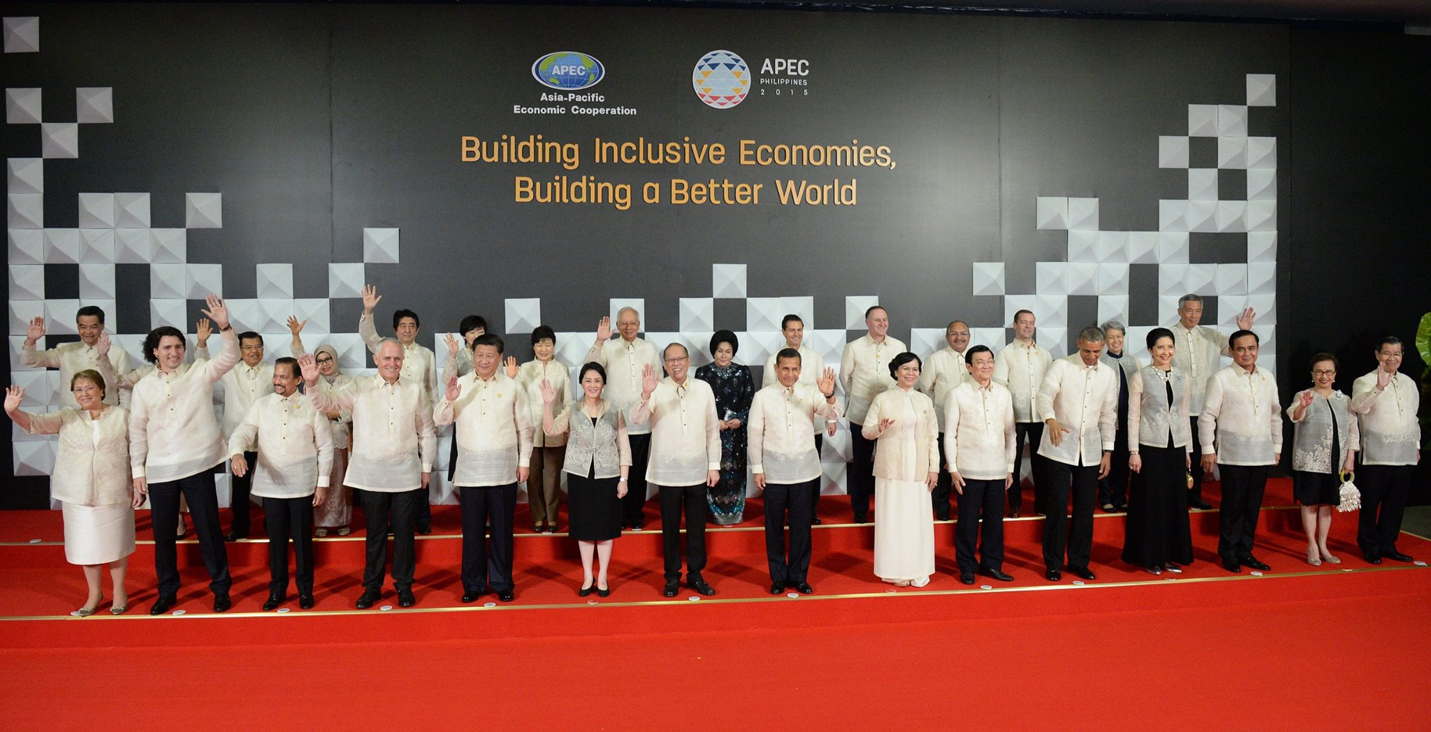 Image of Barong for the APEC Delegates is a Philippine-Made Pineapple Fibers of Ilonggo