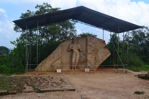 Барельеф с изображением короля Паракрамабаху, Полоннарува, Шри Ланка