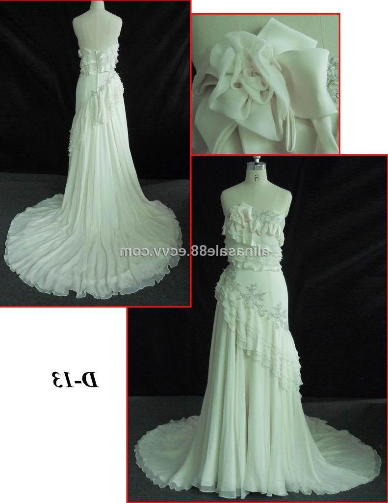 SILK CHIFFON WEDDING DRESS D13