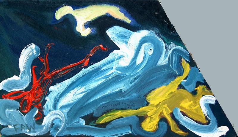 zondvloed en lam gods (schilderij van frank waaldijk)