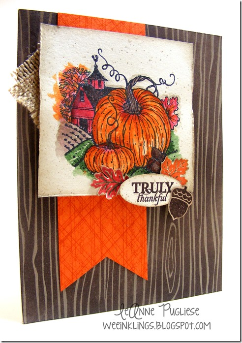 LeAnne Pugliese WeeInklings Harvest Home Paper Pumpkin Truly Thankful Stampin Up