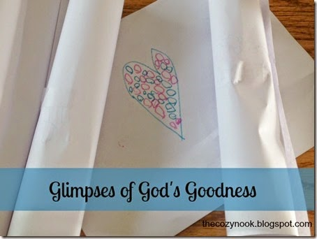 Glimpses of God's Goodness - The Cozy Nook
