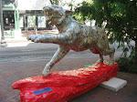 A tiger statue in Memphis TN 07202012