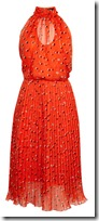 Karen Millen dot pleated georgette dress