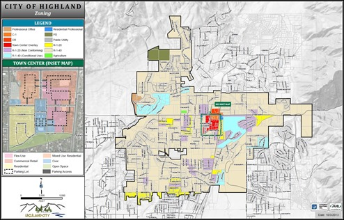 2015-09-01 Highland City Zoning Map