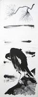 Dej BAO. 062 . Un Chemin dans la Pierre . 1978 .Lithographie . 73 x 27,5 cm