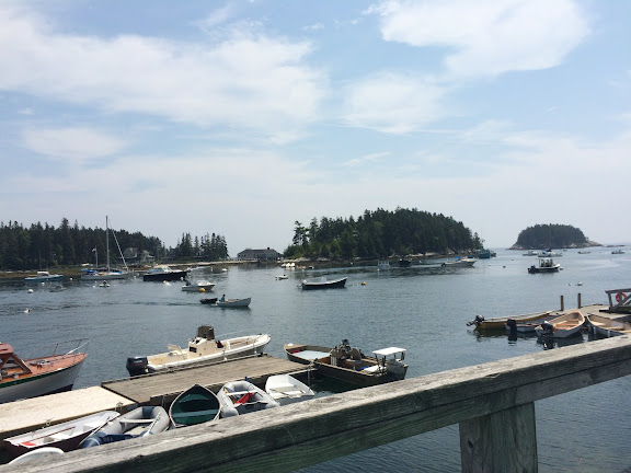The view from our table at Five Island Lobster Co
