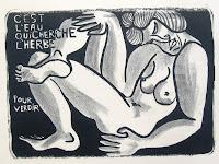 Dej BAO. 016 . Un Chemin dans la Pierre . 1976 . Lithographie . 36,5 x 55cm